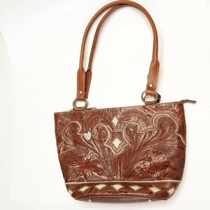 American West Western Tooled leather purse
